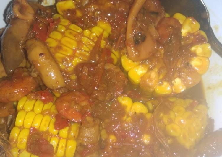 Resep Seafood ala-ala saus Padang