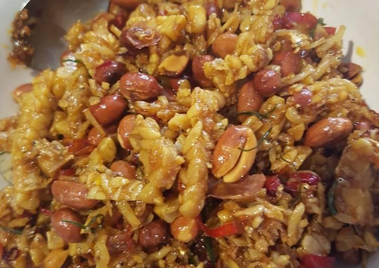 Resep 1Kering Tempe, teri, kacang pedas