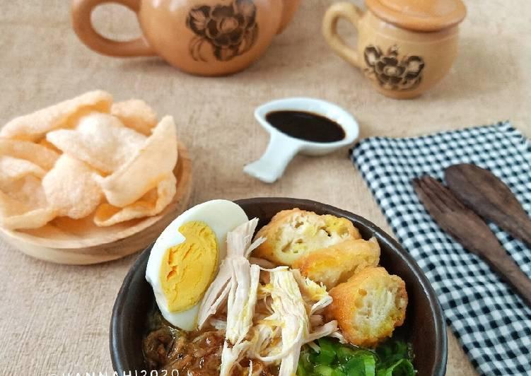 Resep Bubur Ayam kuah kuning