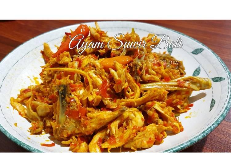Resep Ayam Suwir Bali