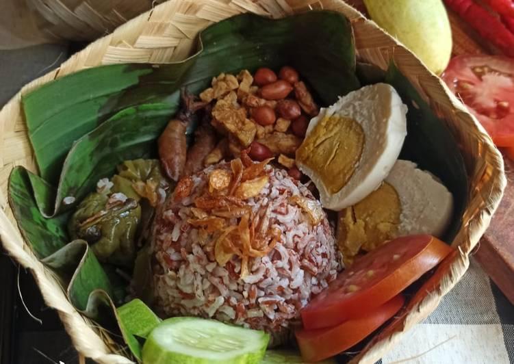 Resep Besekan Nasi Merah Liwet