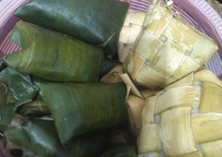 Resep Kupat vs lepet daun pisang
