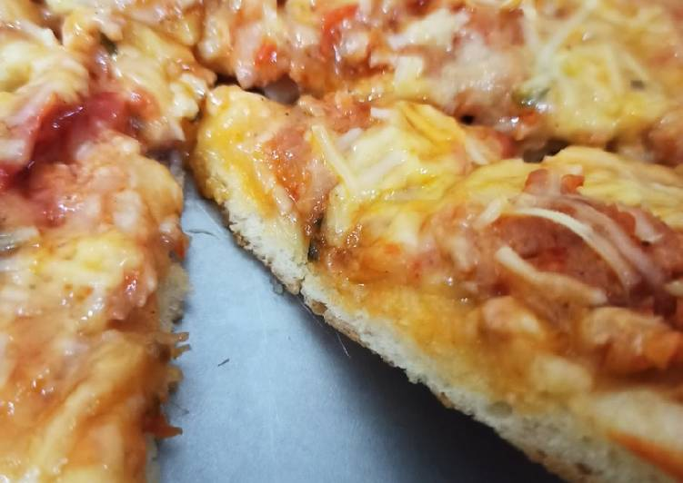 Resep Pizza dengan saus homemade No MSG