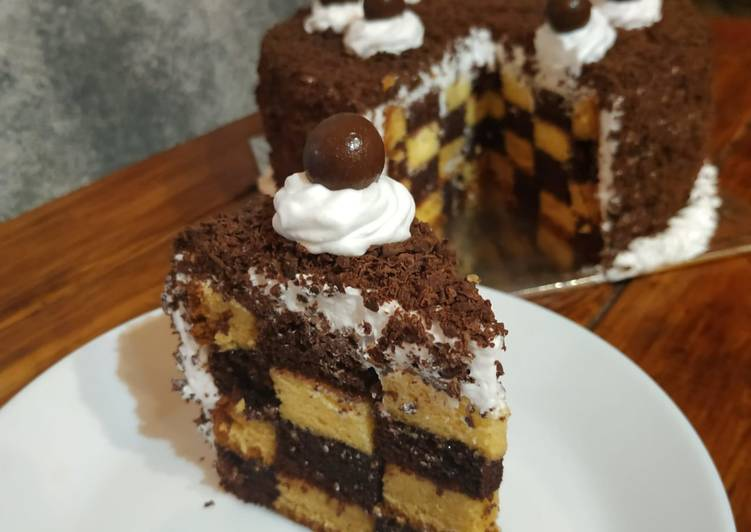 Resep Chess Board Cake