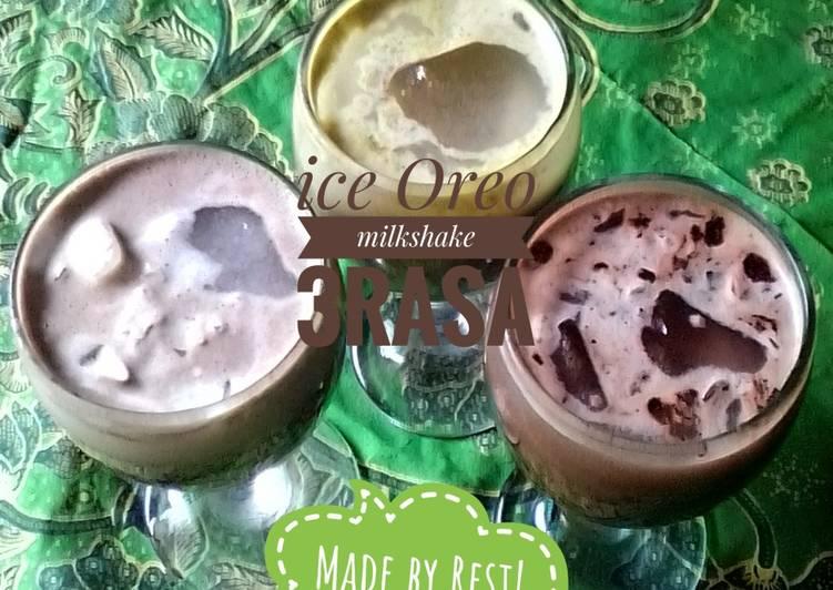 Resep Ice Oreo milkshake 3rasa #EsZamanNow #pekaninspirasi