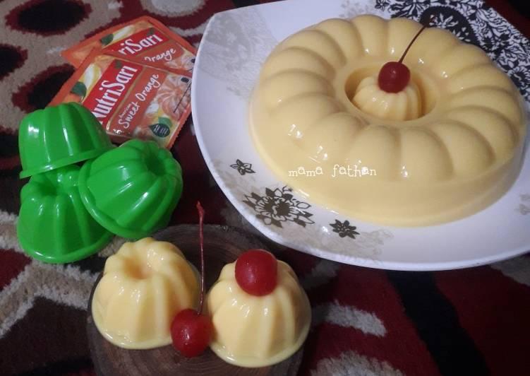 Resep Puding custard jeruk
