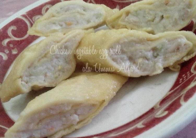 Resep Chicken Vegetable Egg Roll ala Ummu Alfard