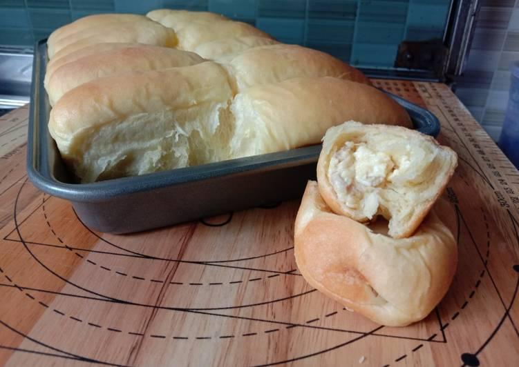 Resep Roti Sobek Isi Tuna Keju