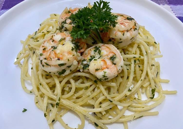 Resep Classic Shrimp Scampi Pasta