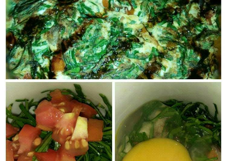 Resep Telur dadar daun mangkok #utk anemia