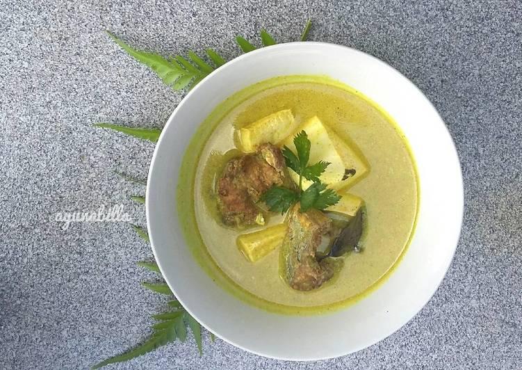 Resep Gulai kuning ikan tuna #menuanak