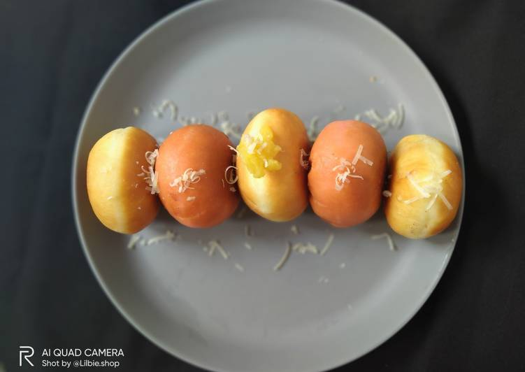 Resep Cheesy Choco Mango Bun