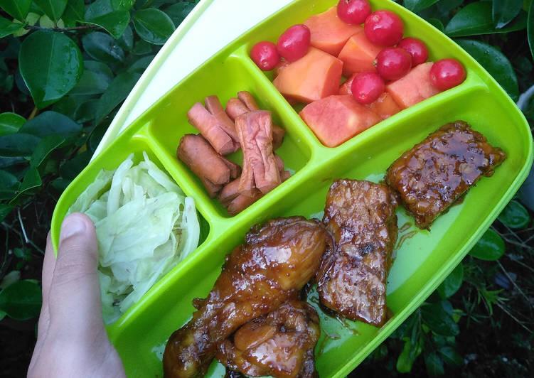 Resep Ayam & Tempe Bacem Goreng