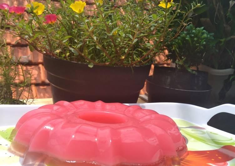Resep Agar merah muda putih