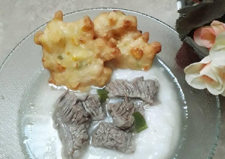 Resep Bubur sup daging sapi
