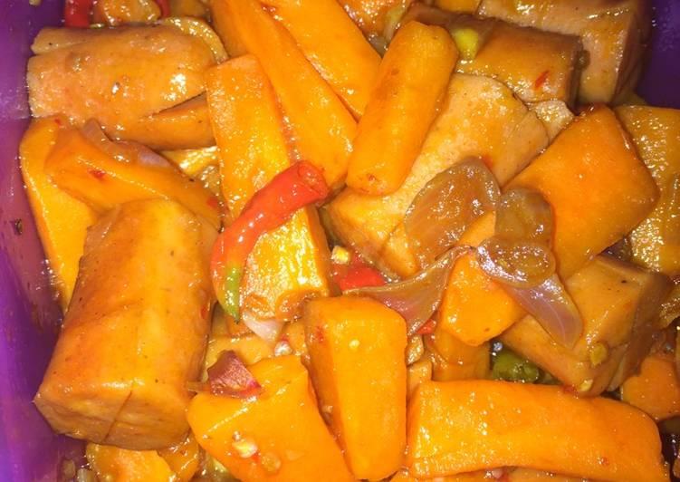 Resep wortel sosis pedas manis