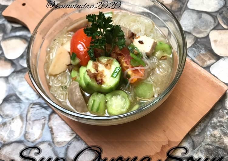Resep Sup Oyong Soun