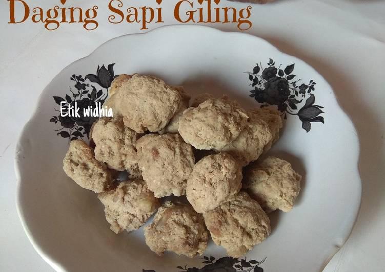 Resep Daging Sapi Giling (frozen food)