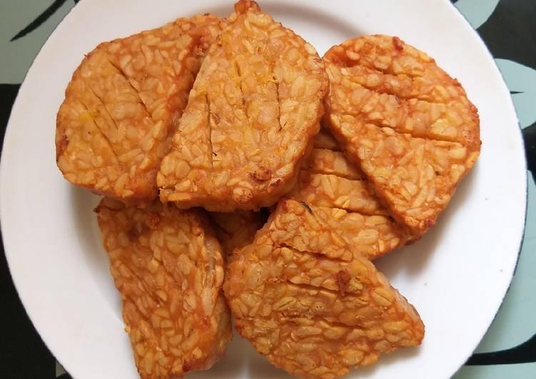 Resep Tempe goreng bawang putih