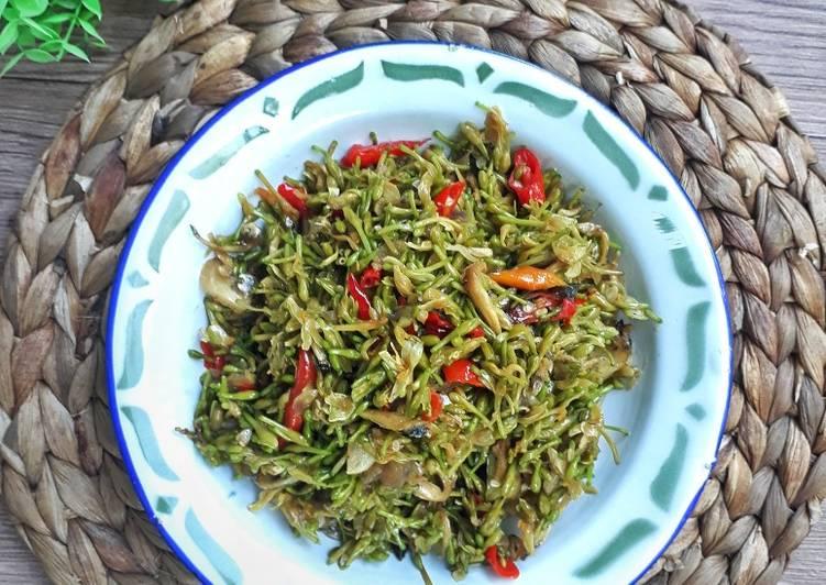Resep Tumis Bunga Pepaya Teri (tips agar tdk pait)