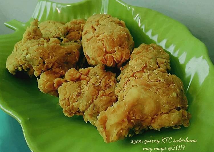 Resep Ayam goreng KFC sederhana (tanpa telur dan tanpa MSG)