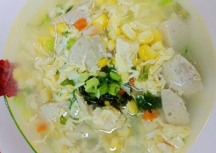 Resep Soup Jagung Telur