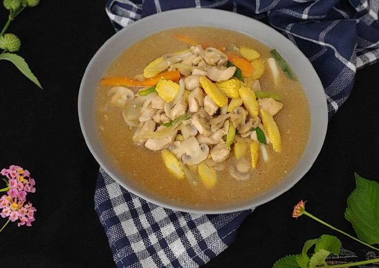 Resep Ayam Cah Jamur