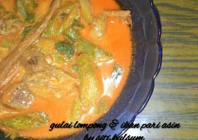 Resep Gulai lompong & ikan pari asin