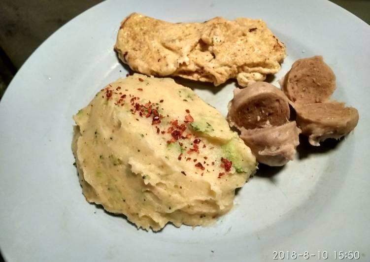 Resep Mashed Potato with Broccoli