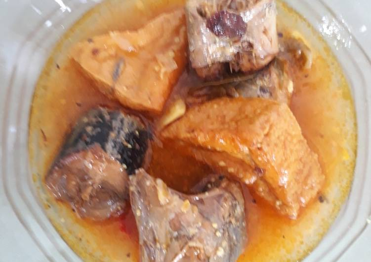 Resep Tongkol tahu masak sarden
