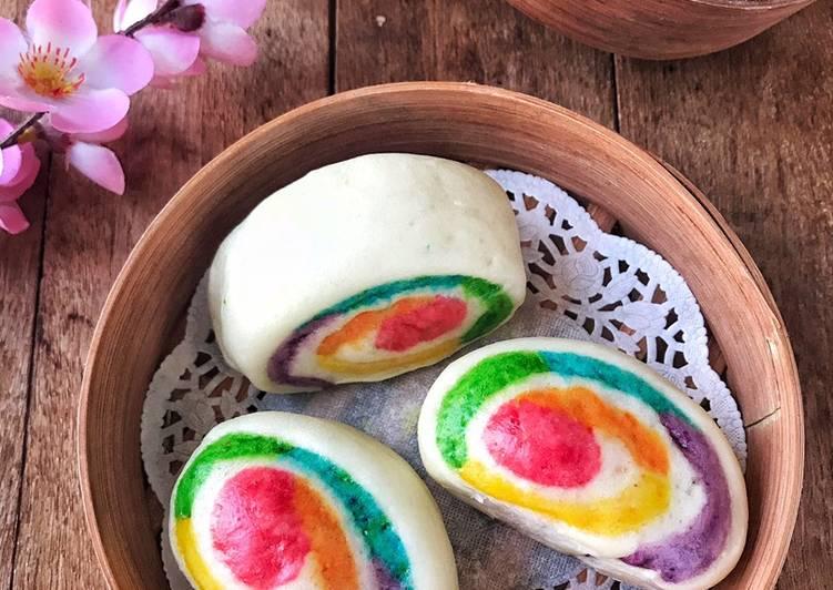Resep Mantou rainbow