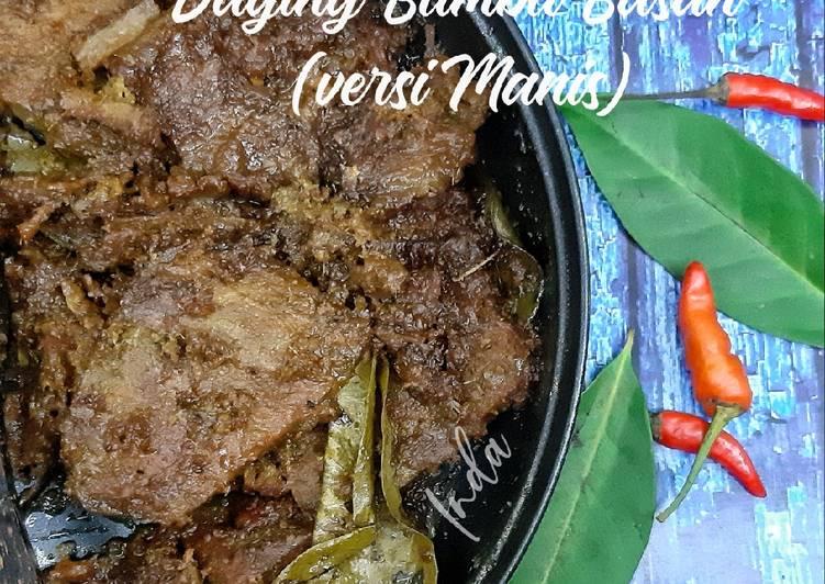 Resep Daging Bumbu Basah (versi manis)