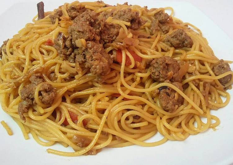 Resep Spaghetti Semur Daging Giling