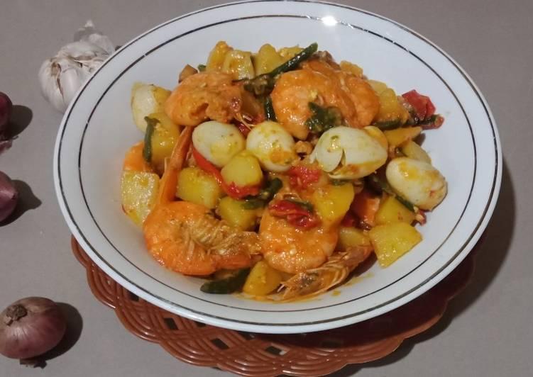 Resep Sambal goreng udang, puyuh dan kentang