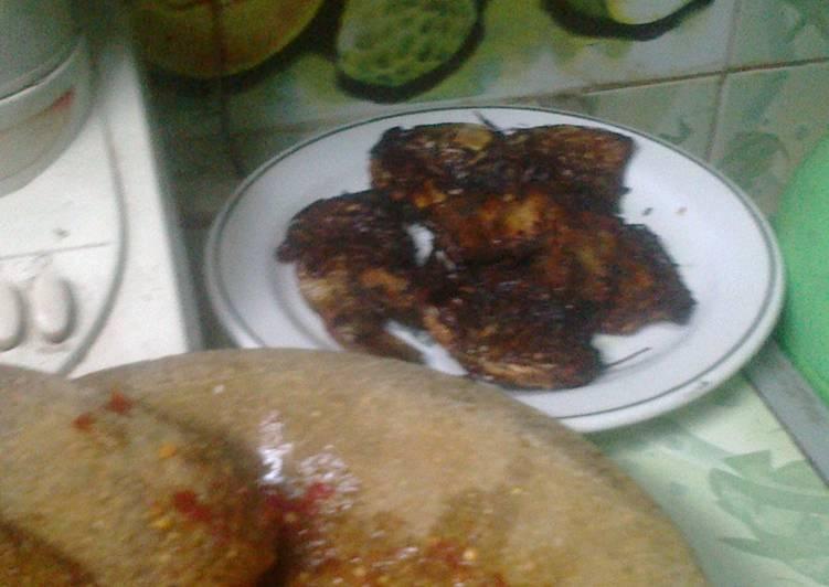Resep Sambal Goang Garlic & Goreng Ikan Mas kere
