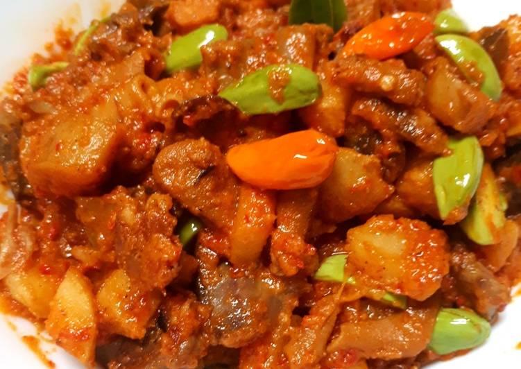 Resep Sambal goreng kentang pete