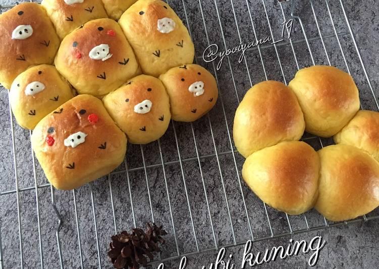 Resep Roti sobek ubi kuning