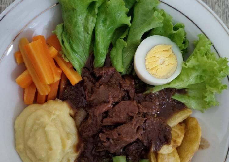 Resep Selat Solo (dengan mashed potato)