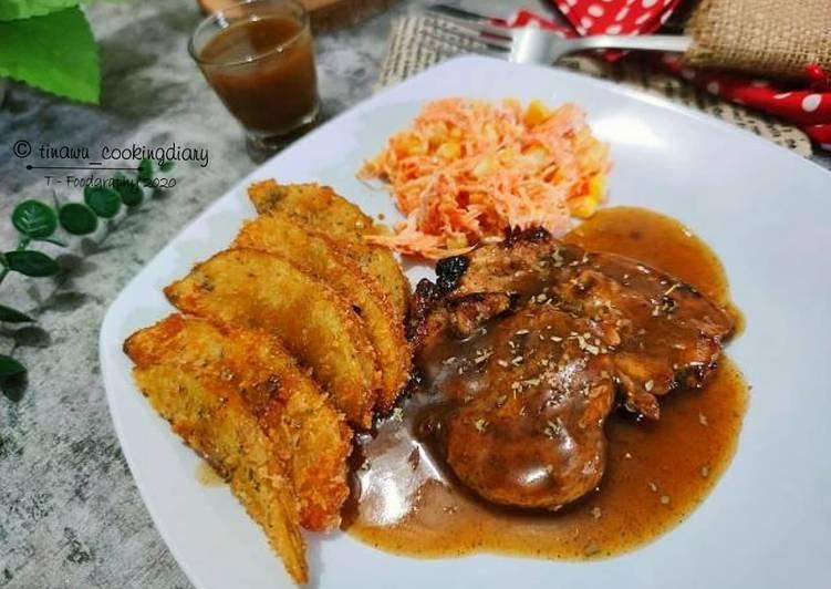 Resep Chicken Steak Pan