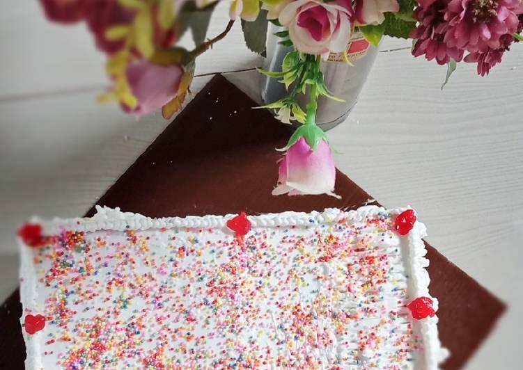 Resep Toast Birthday Cake (kue ulangtahun roti tawar)