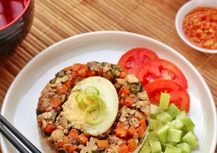 Resep Nasi Tim Ikan, praktis dan sehat