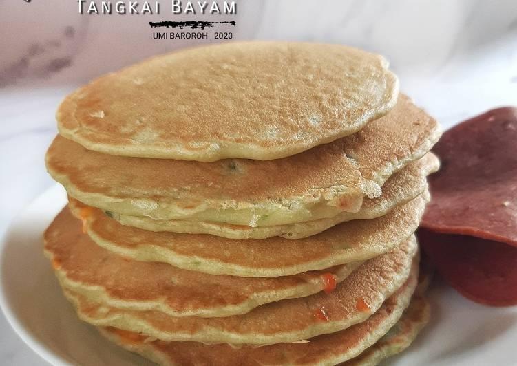 Resep Pancake Tangkai Bayam