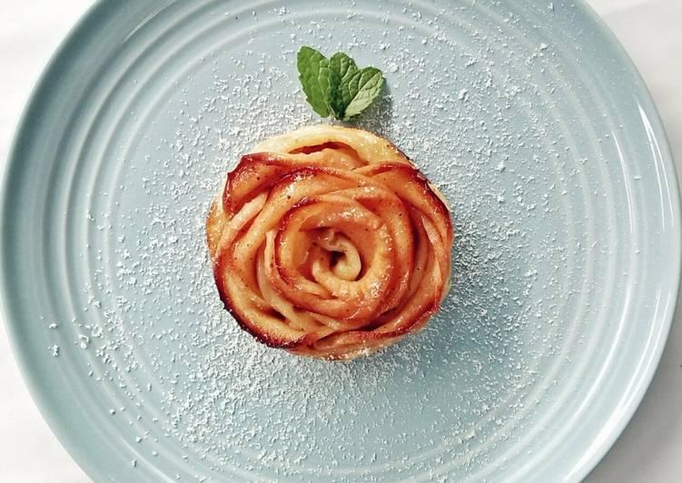 Resep Cinnamon Apple Rose Puff Pastry