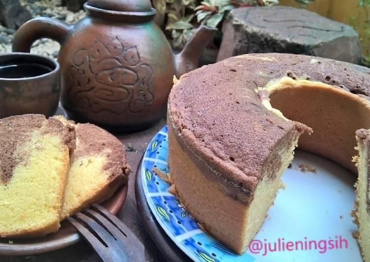 Resep Cake Marmer Simple