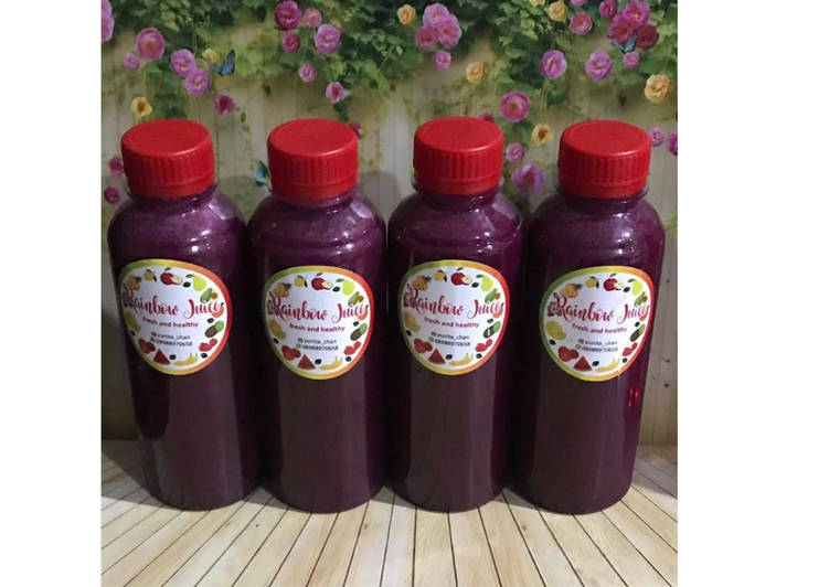 Resep Diet Juice Dragon Fruit Grape Collard Kailan