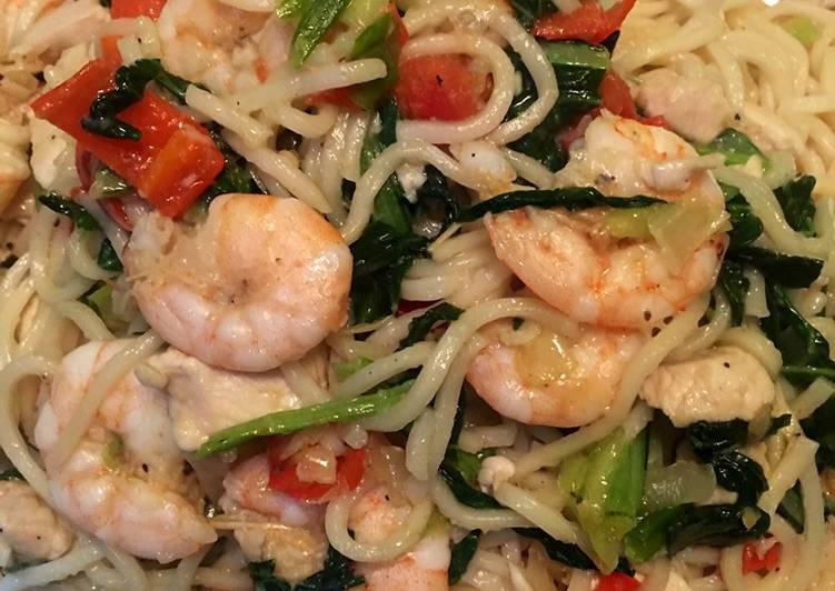 Resep Seafood Pasta (Asian flavour pasta)