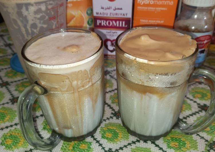 Resep Dalgona coffee lowfat