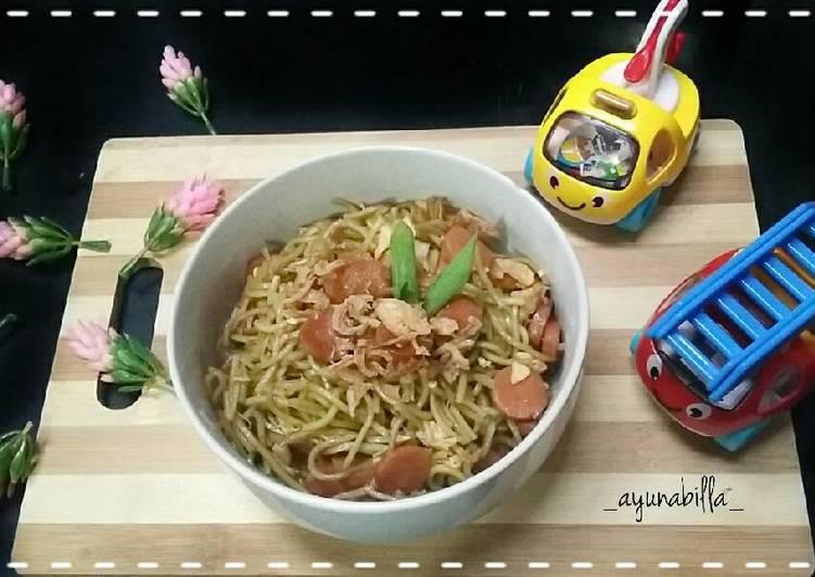 Resep Mie goreng sosis #sarapan/day5/#5hari