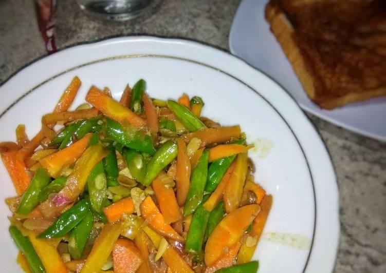 Resep Buncis wortel tauco