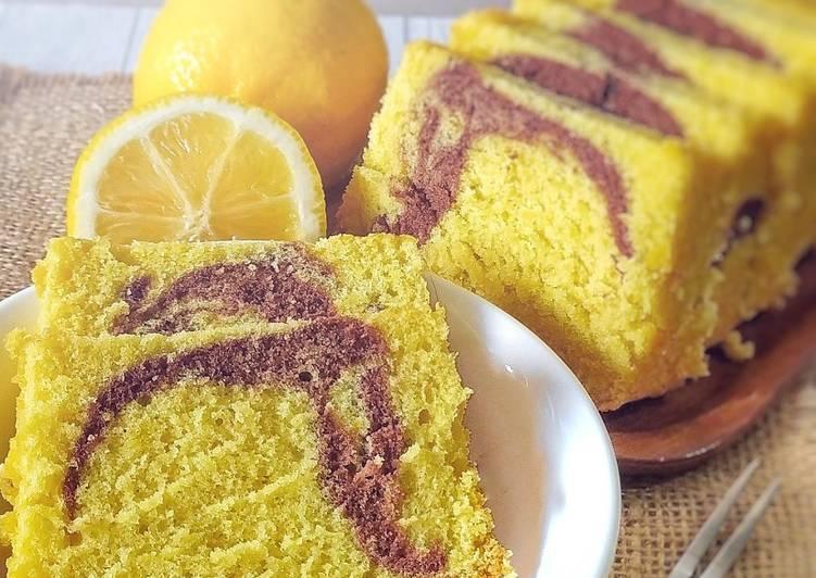 Resep Marmer cake (lemon)